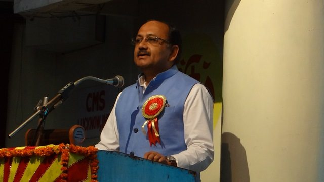 Photo#5- Hon'ble Health Minister of UP - Mr. Siddharth Nath Singh addressing the participants