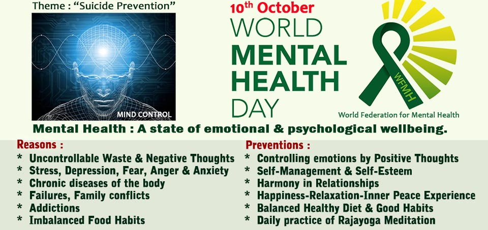 World Mental Health Day (WMHD) 10 October 2019 - Medical ...