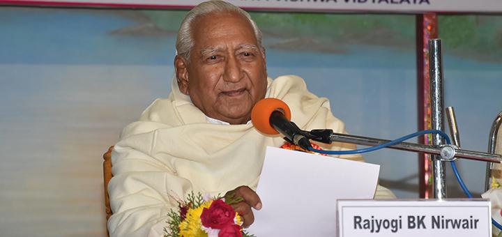 Rajyogi BK Nirwair, Secretary General of Brahma Kumaris, Mt. Abu